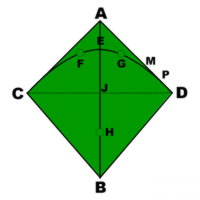 Indoor fighter paul berard kite plan base kpb for Indoor kite design