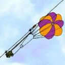 Parachute boodschapper