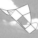 Einfacher Flugzeugdrachen