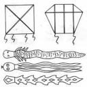 Plastic snake kite