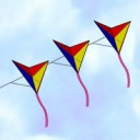 Tricolor Triangle Kite Train
